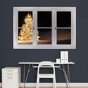Christmas Tree with Lights: Instant Window Fathead Wall Decal