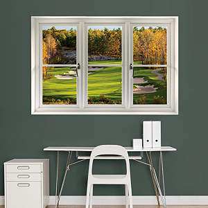 Fall Golf Tee Box: Instant Window Fathead Wall Decal