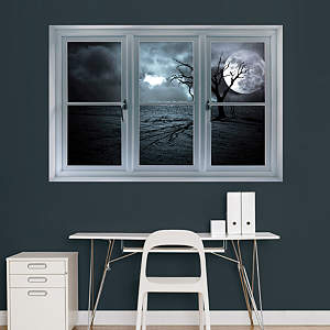 Full Moon: Instant Window Fathead Wall Decal