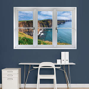 Irish Cliffs: Instant Window Fathead Wall Decal