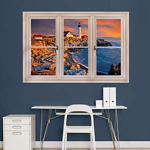 Portland, Maine Lighthouse: Instant Window Fathead Wall Decal