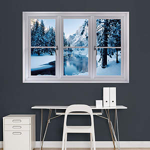 Merced River in Winter: Instant Window Fathead Wall Decal