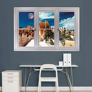 Moon Over the Canyon National Park: Instant Window Fathead Wall Decal