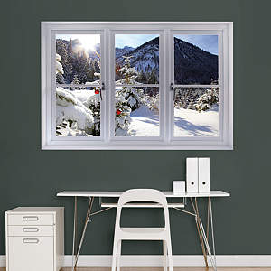 Mountain Christmas Tree: Instant Window Fathead Wall Decal
