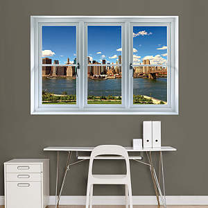 New York Skyline: Instant Window Fathead Wall Decal