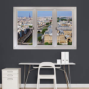 Paris Skyline By Day: Instant Window Fathead Wall Decal