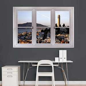 San Francisco Coit Tower: Instant Window Fathead Wall Decal