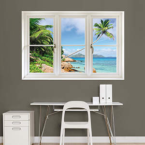 Tropical Beach, Seychelles: Instant Window Fathead Wall Decal