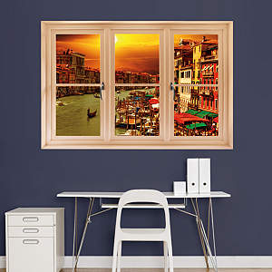 The Grand Canal, Venice: Instant Window Fathead Wall Decal