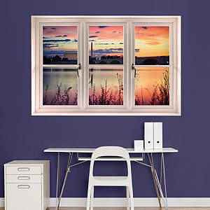 Washington D.C. Sunrise: Instant Window Fathead Wall Decal