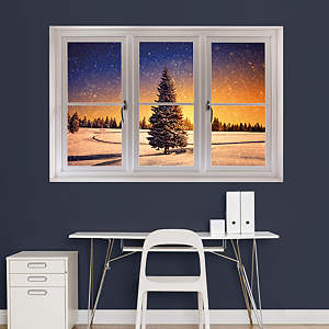 Winter Sunset: Instant Window Fathead Wall Decal