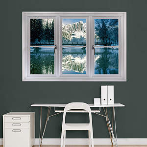 Winter at Yosemite: Instant Window Fathead Wall Decal
