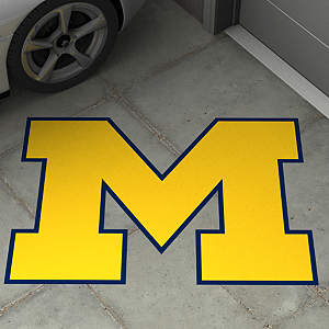 Street Grip outdoor decal of U of M's logo