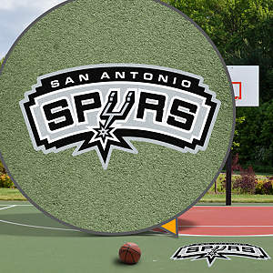 San Antonio Spurs Street Grip Outdoor Graphic