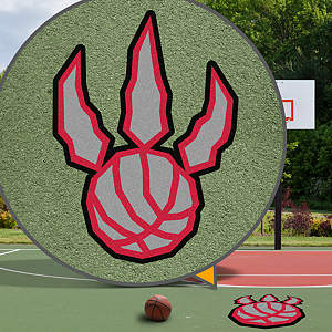 Toronto Raptors Street Grip Outdoor Graphic
