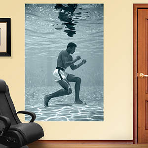 Muhammad Ali Underwater Training Mural Fathead Wall Decal