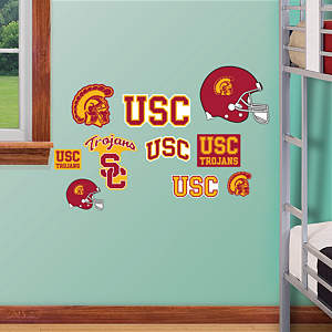 USC Trojans - Team Logo Assortment Fathead Wall Decal
