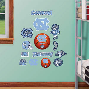 North Carolina Tar Heels - Team Logo Assortment Fathead Wall Decal