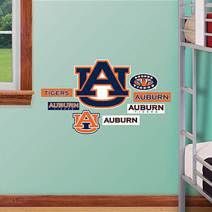 Auburn Tigers - Team Logo Assortment Fathead Wall Decal