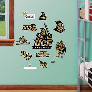 UCF Knights - Team Logo Assortment Fathead Wall Decal