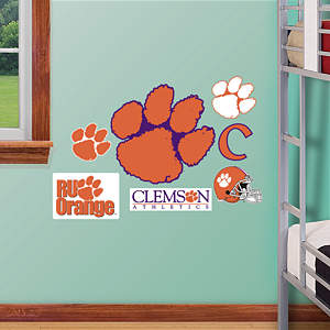 Clemson Tigers - Team Logo Assortment Fathead Wall Decal