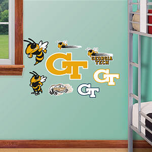 Georgia Tech Yellow Jackets - Team Logo Assortment Fathead Wall Decal