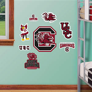 South Carolina Gamecocks - Team Logo Assortment Fathead Wall Decal