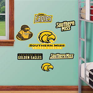 Southern Miss Golden Eagles - Team Logo Assortment Fathead Wall Decal