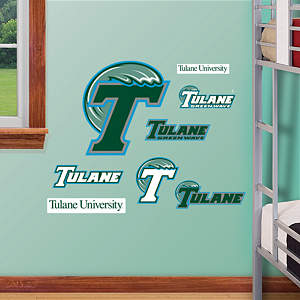 Tulane Green Wave - Team Logo Assortment Fathead Wall Decal