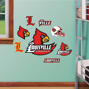 Louisville Cardinals - Team Logo Assortment Fathead Wall Decal