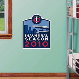 Minnesota Twins Target Field Inaugural Season Logo - Fathead Jr. Fathead Wall Decal