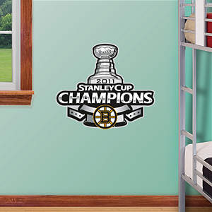 Fathead Jr. - Boston Bruins 2011 Stanley Cup Champions Logo Fathead Wall Decal