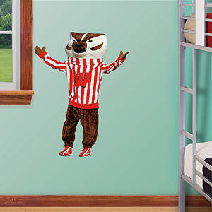 Wisconsin Badgers Mascot Bucky Badger - Fathead Jr. Fathead Wall Decal