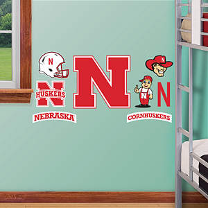 Nebraska Cornhuskers - 2012 Team Logo Assortment Fathead Wall Decal