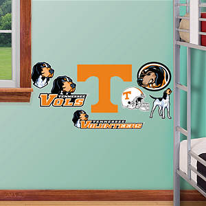Tennessee Volunteers - Team Logo Assortment Fathead Wall Decal