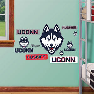 UConn Huskies - Team Logo Assortment Fathead Wall Decal