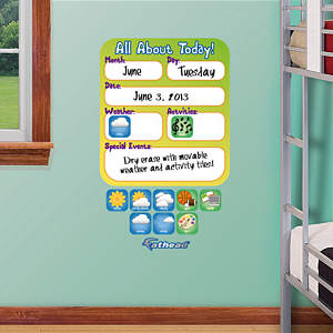 Dry Erase Daily Update Board Fathead Wall Decal