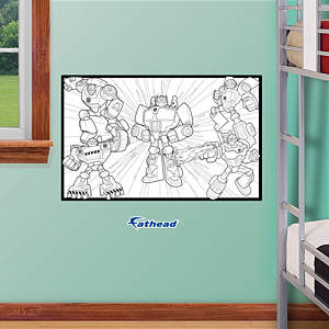 Dry Erase Transformers Coloring Sheet Fathead Wall Decal