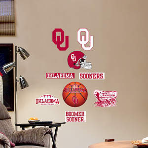 Oklahoma Sooners - Team Logo Assortment Fathead Wall Decal