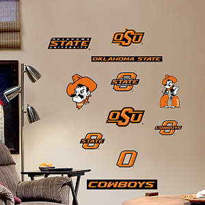 Oklahoma State Cowboys - Team Logo Assortment Fathead Wall Decal