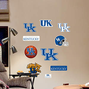 Kentucky Wildcats - Team Logo Assortment Fathead Wall Decal