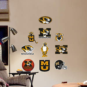 Missouri Tigers - Team Logo Assortment Fathead Wall Decal