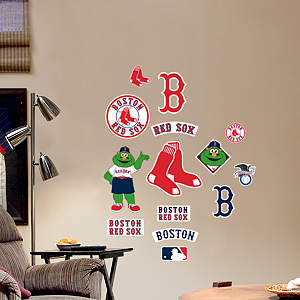 Boston Red Sox - Team Logo Assortment Fathead Wall Decal