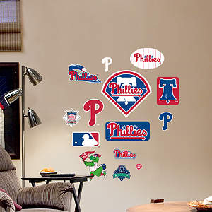 Philadelphia Phillies - Team Logo Assortment Fathead Wall Decal