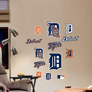 Detroit Tigers - Team Logo Assortment Fathead Wall Decal