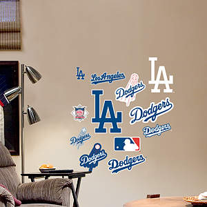 Los Angeles Dodgers - Team Logo Assortment Fathead Wall Decal