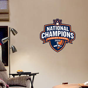 Fathead Jr. - Auburn Tigers 2010 National Champions Logo Fathead Wall Decal
