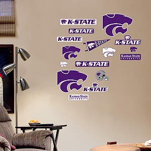 Kansas State Wildcats - Team Logo Assortment Fathead Wall Decal