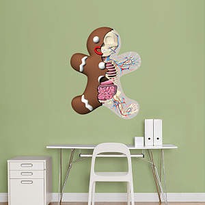 Gingerbread Man Fathead Wall Decal