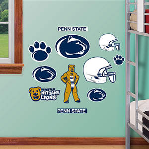 Penn State Nittany Lions - Team Logo Assortment Fathead Wall Decal